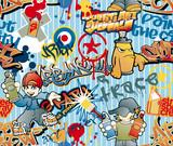 graffiti seamless vector pattern