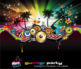 Fototapety Tropical Background for Music Flyers