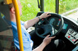 Bus driver sitting in his bus - 35639292