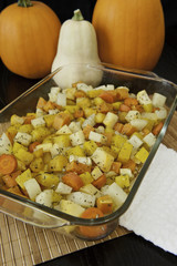 Roasted Root Vegetables with Pumpkins