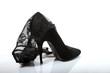 Zarte Spitze umhüllt den Schuh