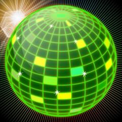 Disco Kugel grün