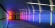 Leinwanddruck Bild - colored corridor