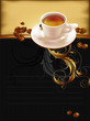 cup of coffee with ornate elements