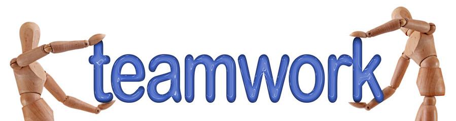 teamwork word manikins
