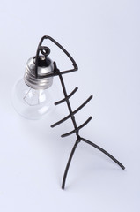 A fish made of wire and a light bulb #2