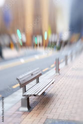 Street life in New York - illustrative, blurred image; daytime