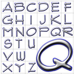 abc alphabet background flux architect design