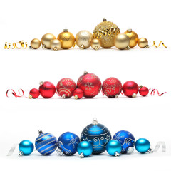 Collection of colored christmas balls