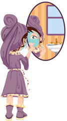 Girl Applying Face Mask