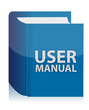 User guide book illustration design