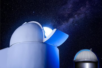 astronomical observatory dome stars night