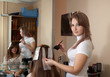 hair stylist coloring    girl hair