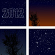 Vector set of background starry sky