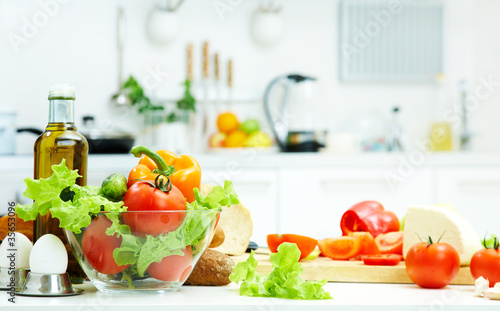 Tuinposter Koken healthy food