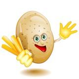 Fototapety Patata Patatina Fritta Cartoon Fumetto-Potato Comics-Vector