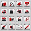 button White_red Social Media
