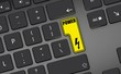 power flash icon - yellow button - black keyboard