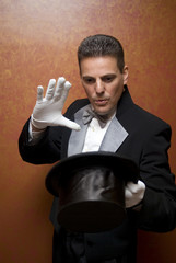 Magician performing