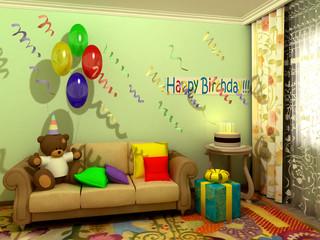 Birthday babyroom (childroom)
