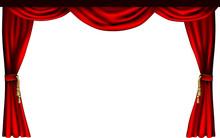 Teatru lub kina zasłony