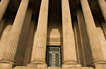 Impressive sandstone columns