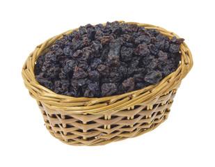 Currants in wicker basket