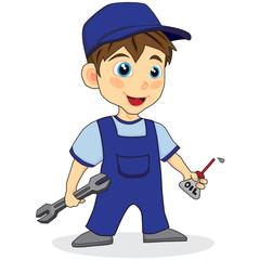 cute mechanic boy