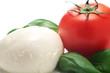 Tomato, mozzarella and basil