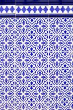 Andaluzyjskim stylu hiszpańskiego niebieskie płytki ceramiczne