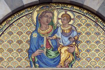 Pisa, mosaic of Santa Caterina church