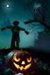 art  Halloween night background