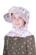 Girl in old fashioned bonnet