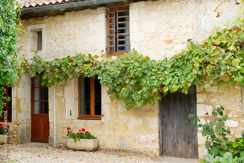 canvas print picture Romantic French house
