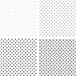 Seamless pattern pois white and black