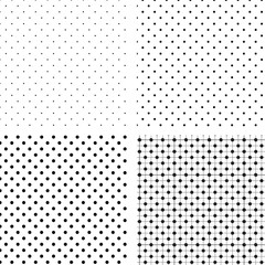 Seamless pattern pois white and black