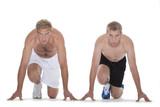sprinters at start poster
