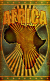 Old, Grunge Retro Africa Poster Illustration