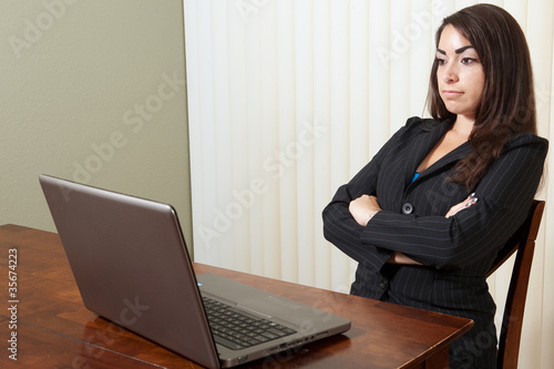 Frustrated young professional woman