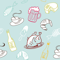 Food seamless pattern.