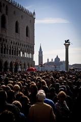 Crowded Piazzetta di San Marco