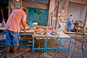 Fish market in Palermo