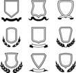 Coats of arms, ribbons and wreaths (Vector)