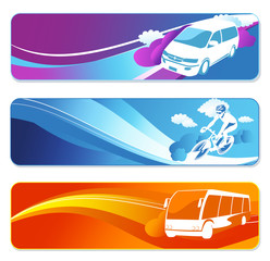transportation banners set