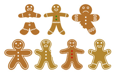 set of gingerbread men