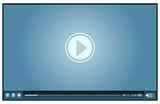 Fototapety blue video player for web