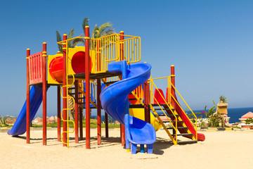 Plastic slide for small children
