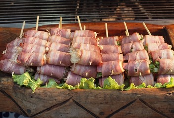 Skewers with Bacon