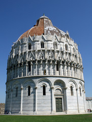 gothic baptistery in Pisa, neat the tower