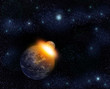 planet catastrophe in space